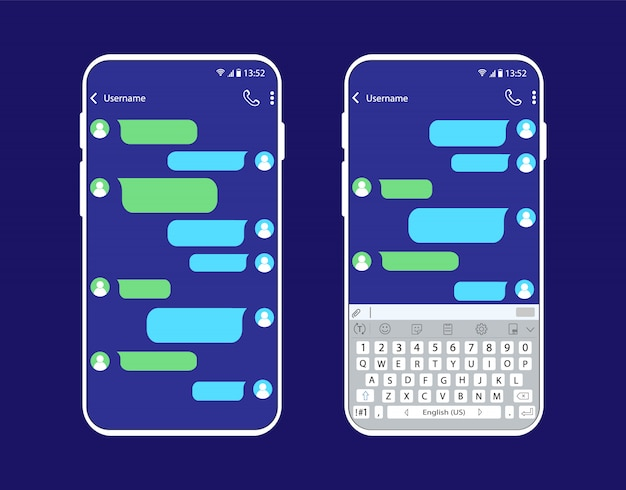 Chat interface on smartphone.