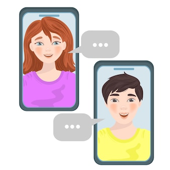 Chat internet friend talking business