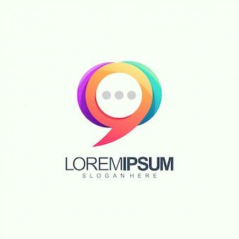 Chat logo design vector illustration