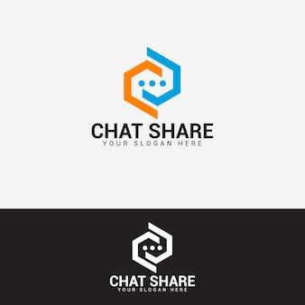 Шаблон вектора дизайна логотипа чата
