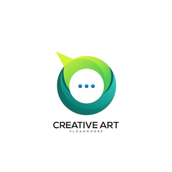 채팅 로고 그라데이션 화려한 디자인