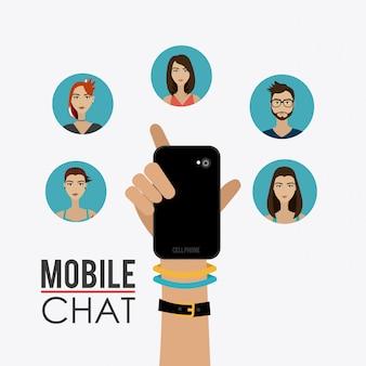 Chat mobile design.