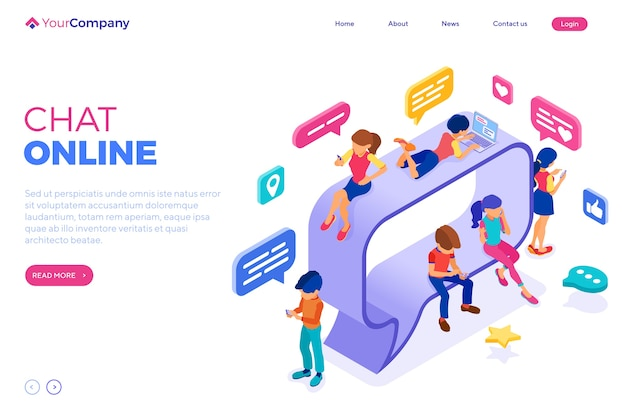 Chat online landing page
