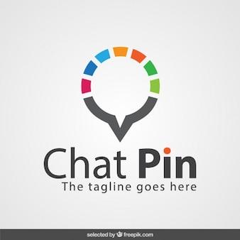Pin logo chat