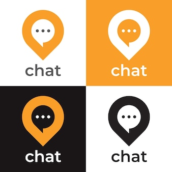 Chat point  logo template