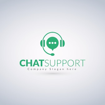 Chat Support Logo Template