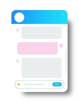 백그라운드 소셜 커뮤니케이션 채팅 채팅 봇에 격리된 웹사이트 및 모바일 앱용 채팅 창