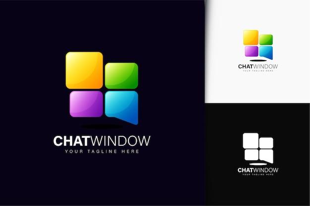 그라데이션이 있는 채팅 창 로고 디자인
