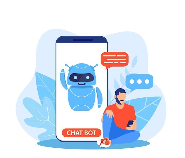 Чат-бот ai и концепция обслуживания клиентов.