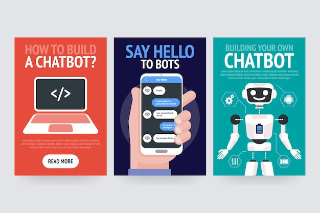 Chatbot business concept. modern banner for the site, web, brochure cards