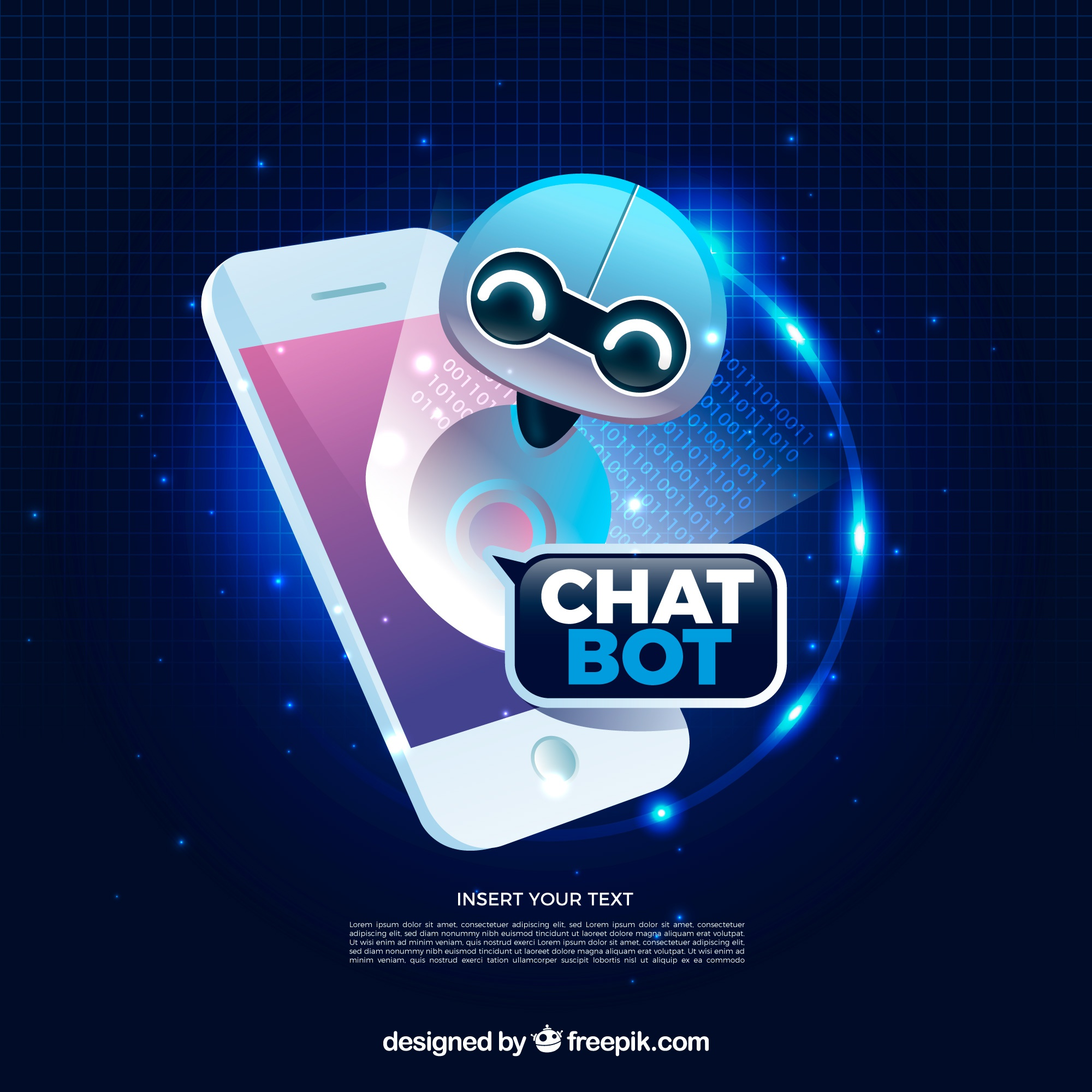 Chatbot concept background in realistic style