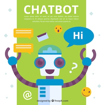 Chatbot concept background with robot