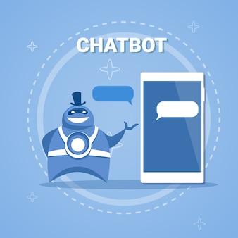 Chatbot concept support robot technology приложение для работы с цифровым чатом на смартфоне