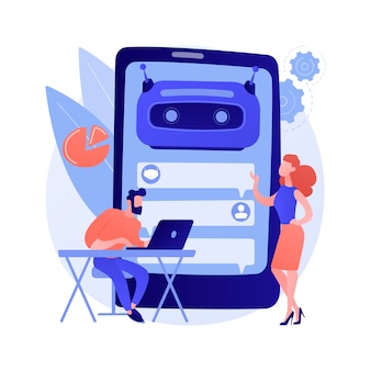 Chatbot development platform abstract concept illustration