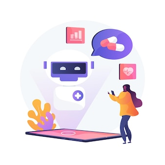 Chatbot in healthcare abstract concept illustration