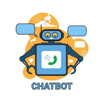 Chatbot icon concept поддержка робот технология digital chat bot application