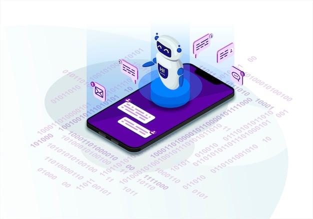 Chatbot isometric  illustration