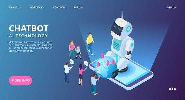 Chatbot landing page.