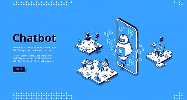 Chatbot robot support people in office