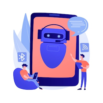 Chatbot assistente virtuale concetto astratto illustrazione