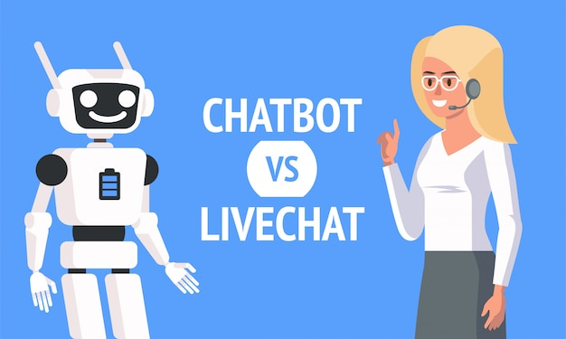 Chatbot vs livechat ,