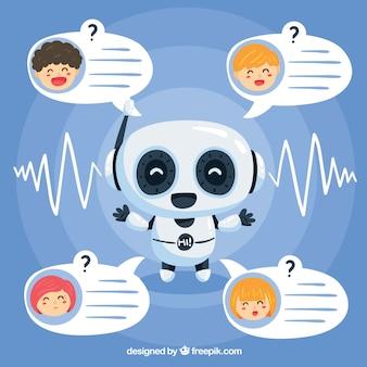 Концепт концепции chatbot с роботом