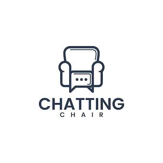 Chatting chair , meeting , logo design inspiration