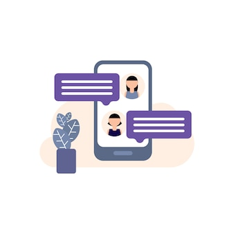 Chatting, chat icon illustration, speech, bubble, internet, sign, single word, talking, discussion, speech, bubble, icon, text messaging, communication