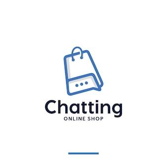 Чат, интернет-магазин, вдохновение для дизайна логотипа