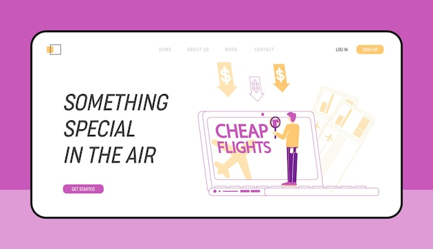 Cheap flight special offer low cost airline discounter landing page template