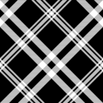 Check black white plaid diagonal texture seamless pattern