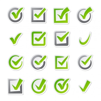 Check box icons vector set.