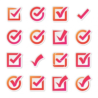 Check box vector icons vector set