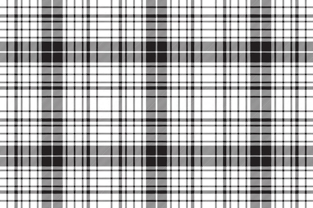 Check diagonal texture plaid black white seamless pattern