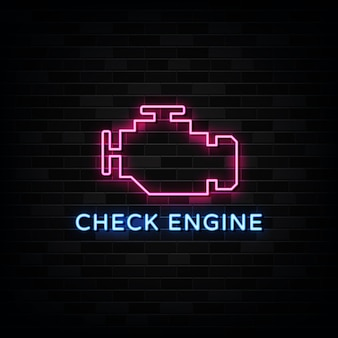 Проверьте двигатель неоновые вывески