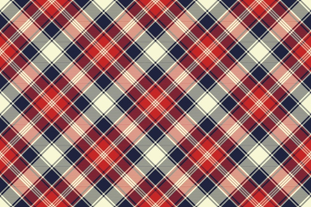 Check fabric texture diagonal lines seamless pattern