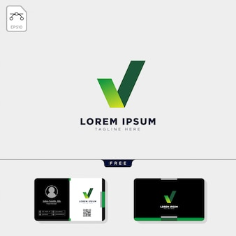 Check logo template and business card design