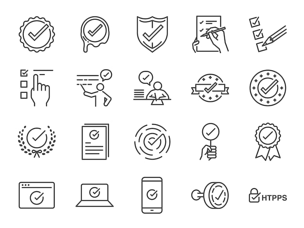 Check mark icon set