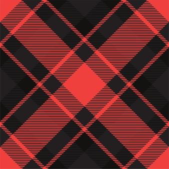 チェック柄のパターンをシームレスにチェック。タータン生地の質感