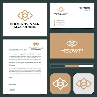 Check point creative symbol concept and business card