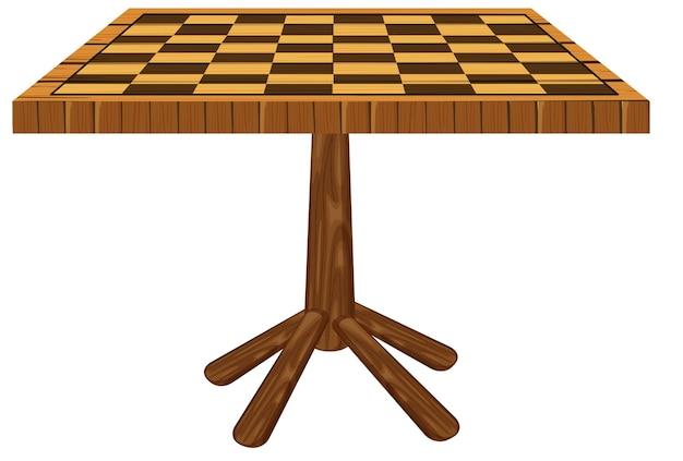 テーブルに刻まれたチェッカーボード
