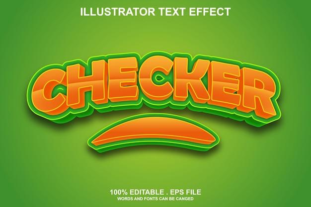 Редактируемый текстовый эффект проверки