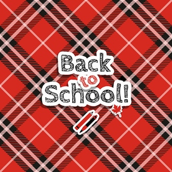 Checkered background of back to school