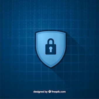 Checkered background with padlock