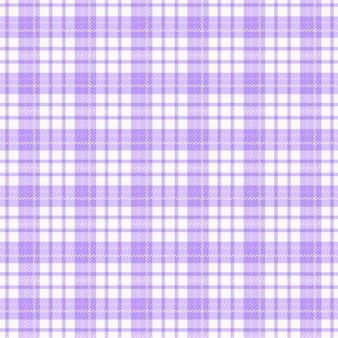 체크 무늬 패브릭. 완벽 한 패턴입니다. 흰색과 옅은 보라색 색상의 배경입니다.