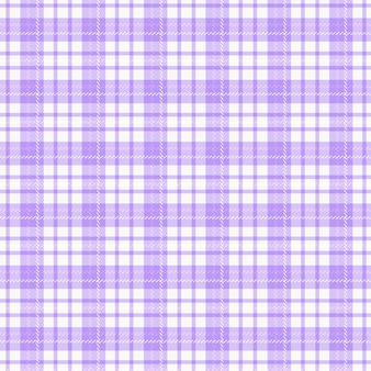 Checkered fabric.  seamless pattern. background in white and pale purple colors.