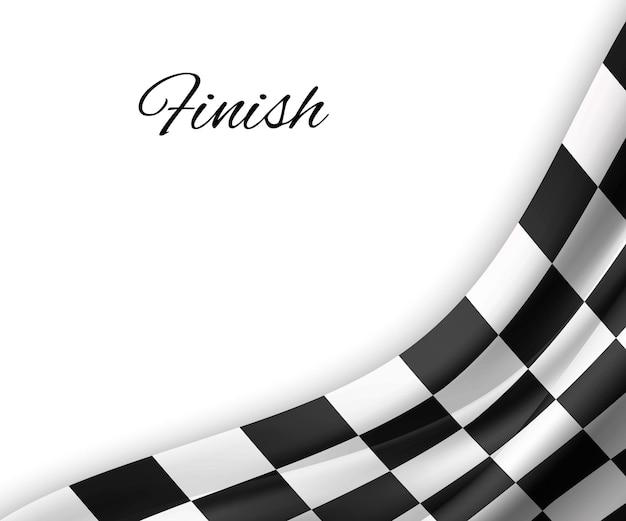市松模様の旗の背景。レース旗のデザイン。