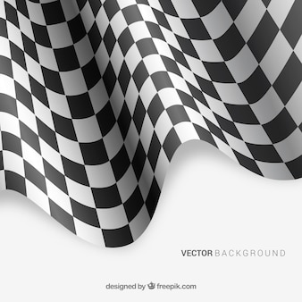 Checkered flag background with realistic design
