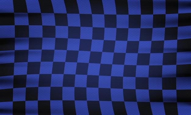 Checkered flag for car racing or rally club
