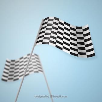 Checkered flag grand prix motocross vector
